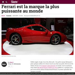 Ferrari est la marque la plus puissante au monde