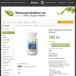 Köp Thorne Research Ferrasorb 60 kaps hos Naturprodukter.se