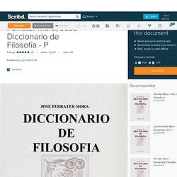 Ferrater Mora, José - Diccionario de Filosofía - P