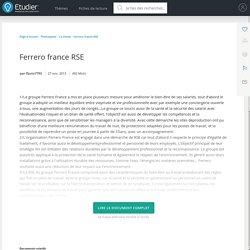 Ferrero france RSE - Comptes Rendus - Flavio7793