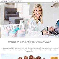 Ferrero Rocher tårta med nutellafyllning
