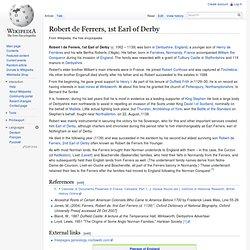 Robert de Ferrers, 1st Earl of Derby