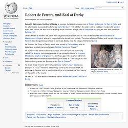 Robert de Ferrers, 2nd Earl of Derby