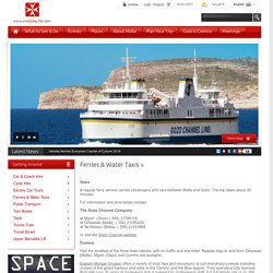 Ferries & Water Taxis - Travel to Gozo, Comino, Sliema & Three Cities