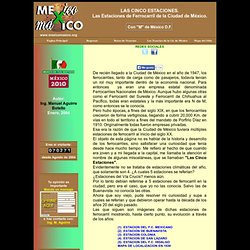Ferrocarriles, Ciudad de México, LAS CINCO ESTACIONES
