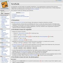 Protocole fabrication