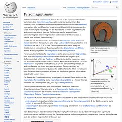 Ferromagnetismus