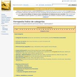 Ferropedia:Índice de categorías - Ferropedia