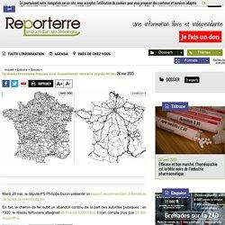 Le réseau ferroviaire français s'est énormément contracté depuis 80 ans