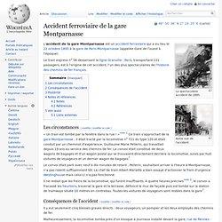 Accident ferroviaire de la gare Montparnasse