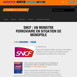 SNCF : un monstre ferroviaire en situation de monopole