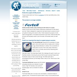 Fertell- Home male and female fertility test.