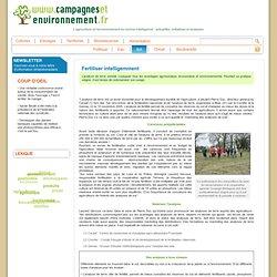 CAMPAGNES ET ENVIRONNEMENT 20/11/05 Analyses de sol - Fertiliser intelligemment
