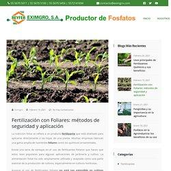 Fertilización con Foliares: métodos de seguridad y aplicación