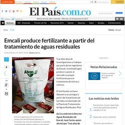 Emcali produce fertilizante a partir del tratamiento de aguas residuales