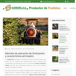 □ Métodos de aplicación de fertilizantes y características principales