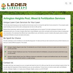 Pest control, weed control & Fertilization services Arlington Heights, IL