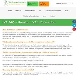 How do I select an IVF Service?