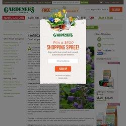 Fertilizer Basics: Organic Fertilizer, NPK Ratio