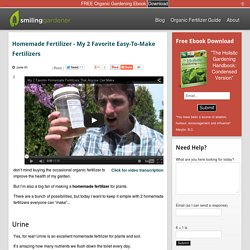 Homemade Fertilizer - My 2 Favorite Easy-To-Make Fertilizers