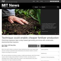 Technique could enable cheaper fertilizer production