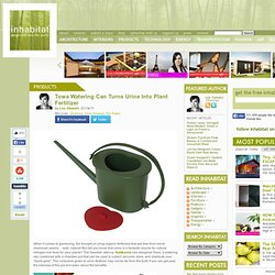 Watering Can Designed for Fertilizing Plants with Human Urine