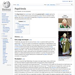 Papal ferula