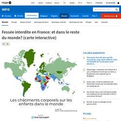 Fessée interdite en France: et dans le reste du monde? (carte interactive)