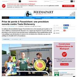 Prise de parole à Fesseinhem: une procédure ouverte contre Txetx Etcheverry