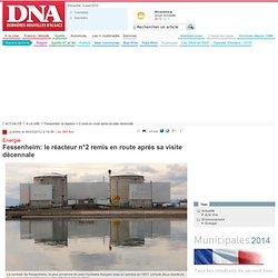 Fessenheim: le réacteur n°2 remis en route après sa visite décennale