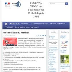 FESTIVAL VIDEO de l'académie de Créteil
