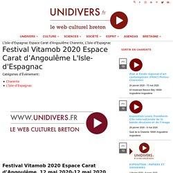 Festival Vitamob 2020 Espace Carat d'Angoulême L'Isle-d'Espagnac 12 mai 2020