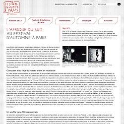 FESTIVAL D'AUTOMNE A PARIS - THEATRE - DANSE - MUSIQUE - CINEMA - ARTS