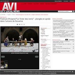 """Festival d'Avignon/""""Le Vivier des noms"""" : plongée en apnée dans l'univers de Novarina"""