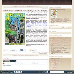 10e festival du livre et de la BD de Bagnols sur Ceze (30)