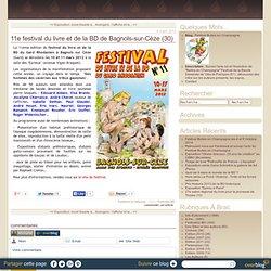 11e festival du livre et de la BD de Bagnols-sur-Cèze (30)