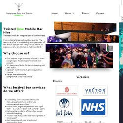 Festival Bar Hire Services- Hampshirebarsandevents.com