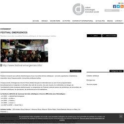 Festival Emergences - Dédale