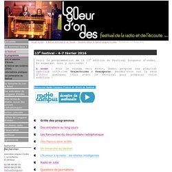 13e festival - 4-7 février 2016 - Longueur d'ondes - festival de la radio et de l'écoute à Brest