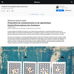 Festival Francophone des Communs on Behance