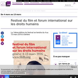 Festival du film et forum international sur les droits humains / France Culture