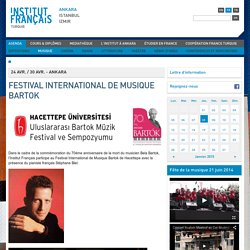 FESTIVAL INTERNATIONAL DE MUSIQUE BARTOK
