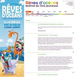 Rêves d'océans, festival du livre jeuness à Doëlan, Bretagne Sud - 2015 - presse