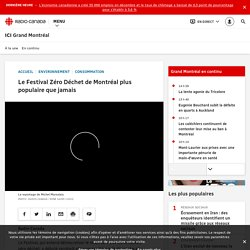 Le Festival Zéro Déchet de Montréal plus populaire que jamais