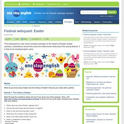 Festival webquest: Easter