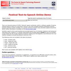Festival Online Demo