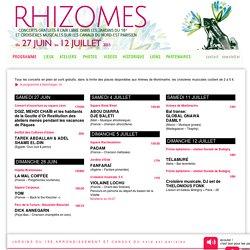 FESTIVAL RHIZOMES - PROGRAMME