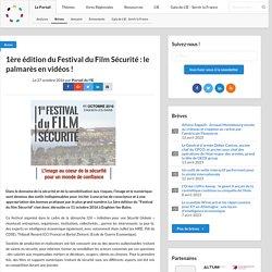 1ère édition du Festival du Film Sécurité : le palmarès en vidéos !