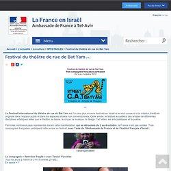 Festival du théâtre de rue de Bat Yam - La France en Israël - Ambassade de France à Tel Aviv