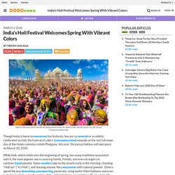 India's Holi Festival Welcomes Spring With Vibrant Colors Kids News Article